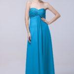 cornflower blue bridesmaid dresses floor length