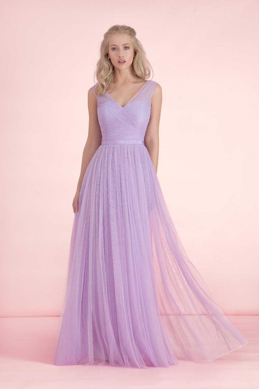 light to dark purple bridesmaid dresses