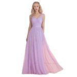 long light purple bridesmaid dresses