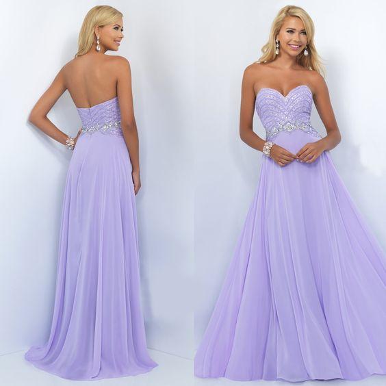 long light purple bridesmaid dresses sweetheart shape