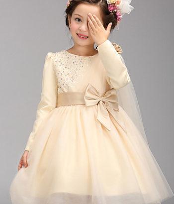 long sleeve flower girl tulle dresses