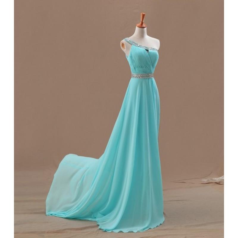 one shoulder tiffany blue bridesmaid dresses