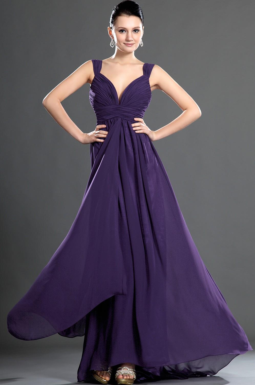 purple bridesmaid dresses with straps