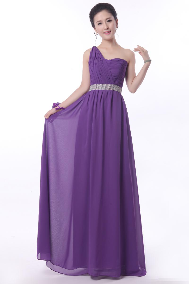 royal purple bridesmaid dresses long 2017