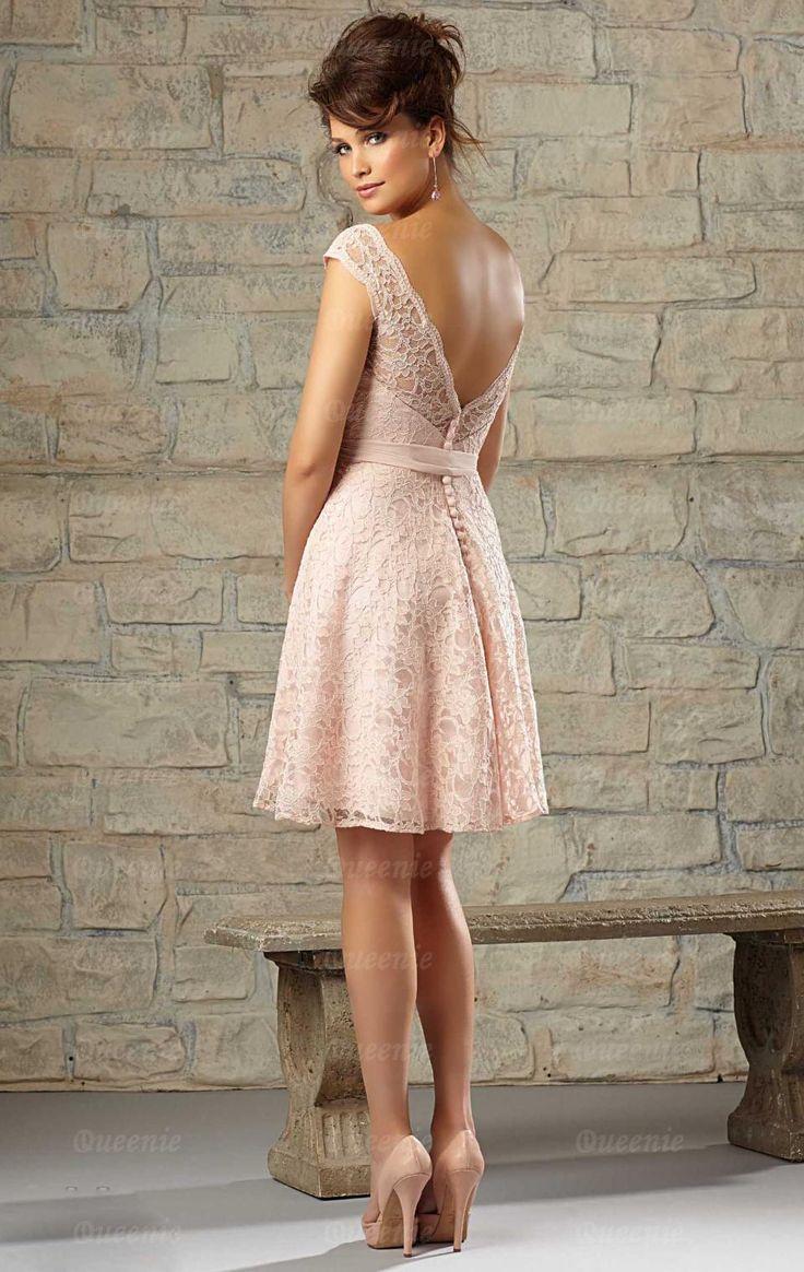 sexy shorty pink bridesmaid dress