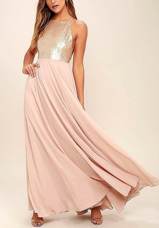 shabby light pink bridesmaid dresses