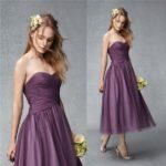 short junior bridesmaid dresses purple UK