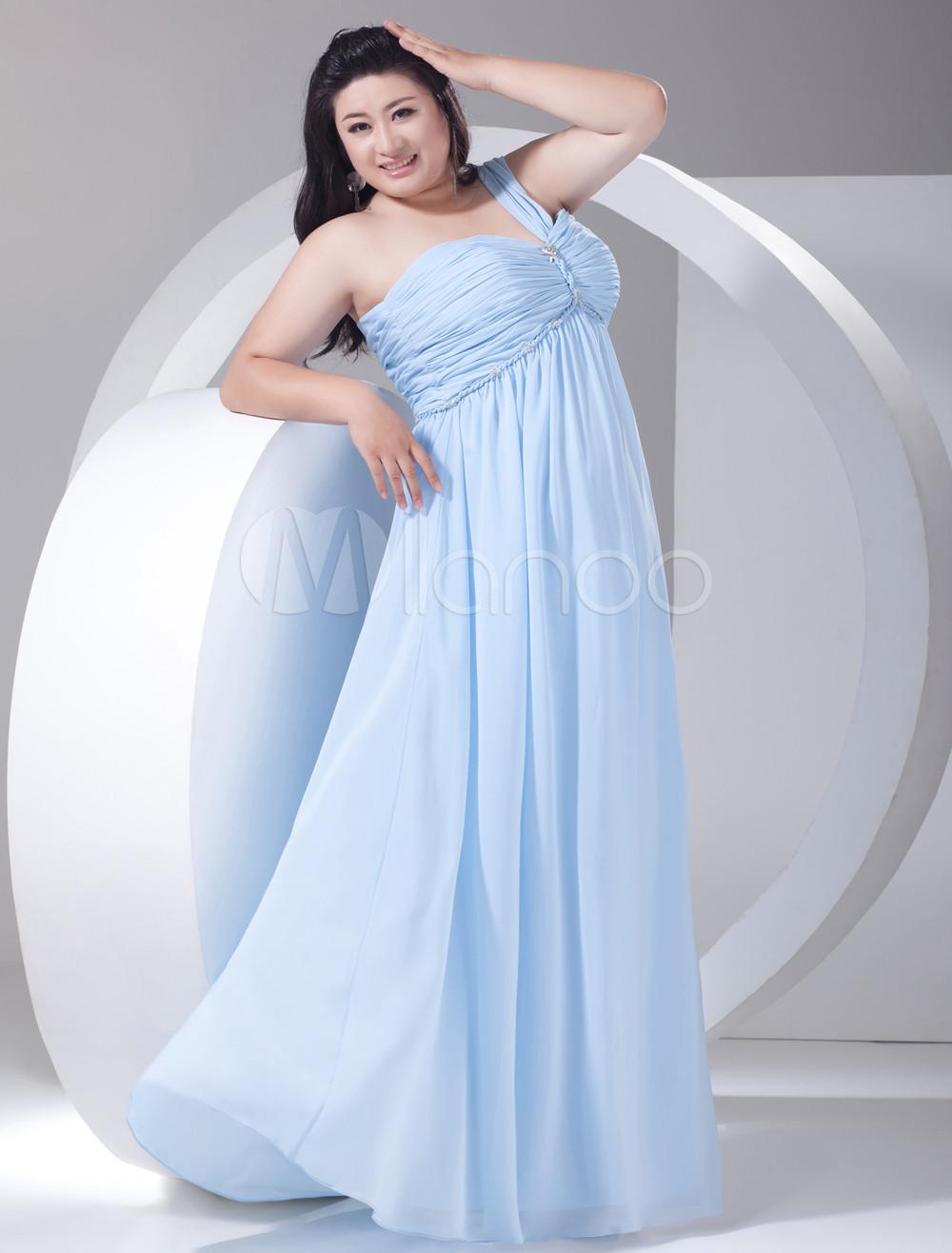 sky blue plus size bridesmaid dresses