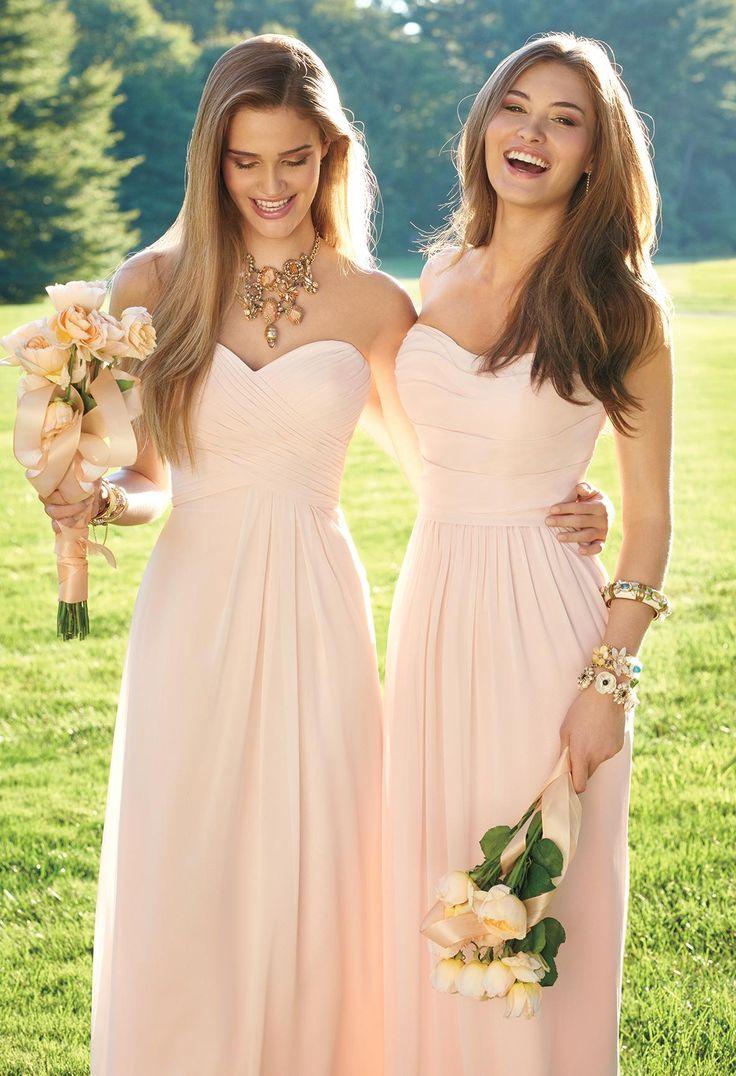 sweetheart pink bridesmaid dresses