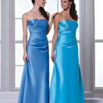two piece cornflower blue bridesmaid dresses