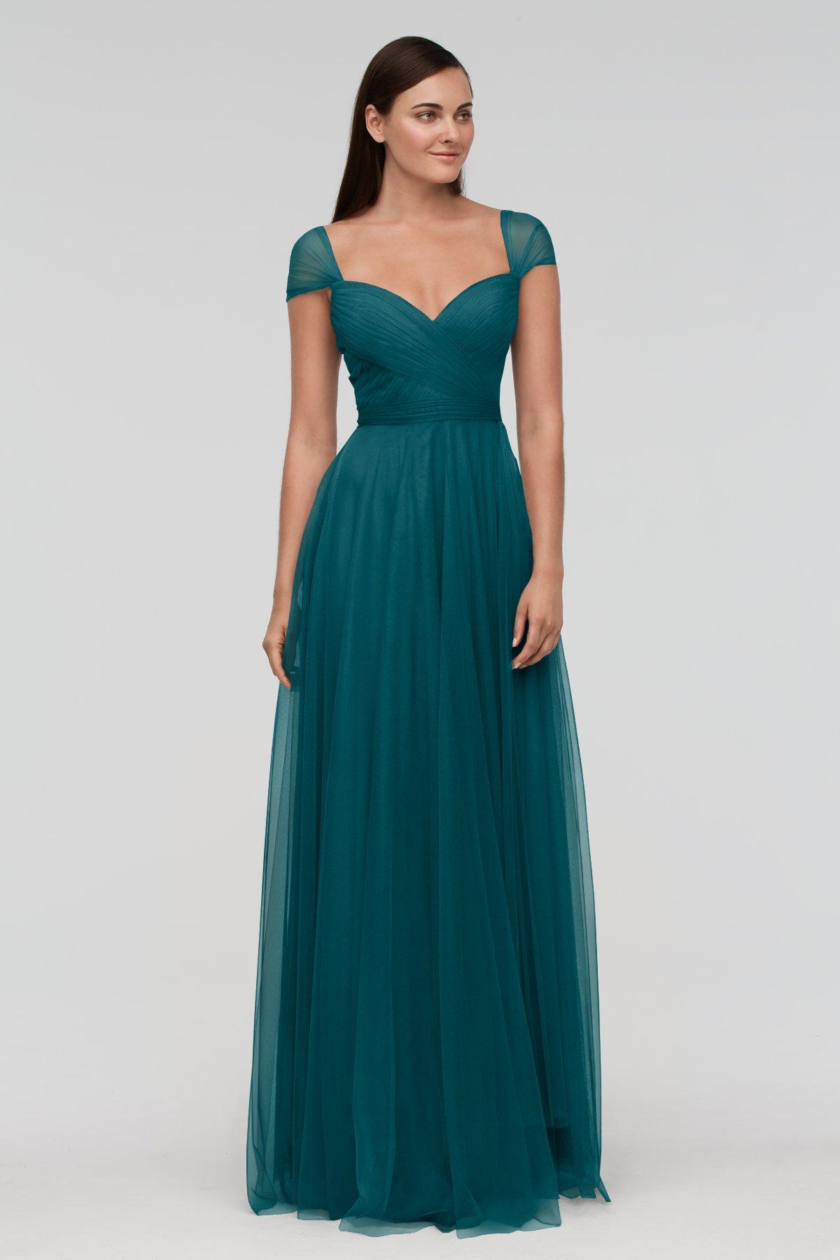Viridian Green Cap Sleeve Bridesmaid Dress Uk Budget