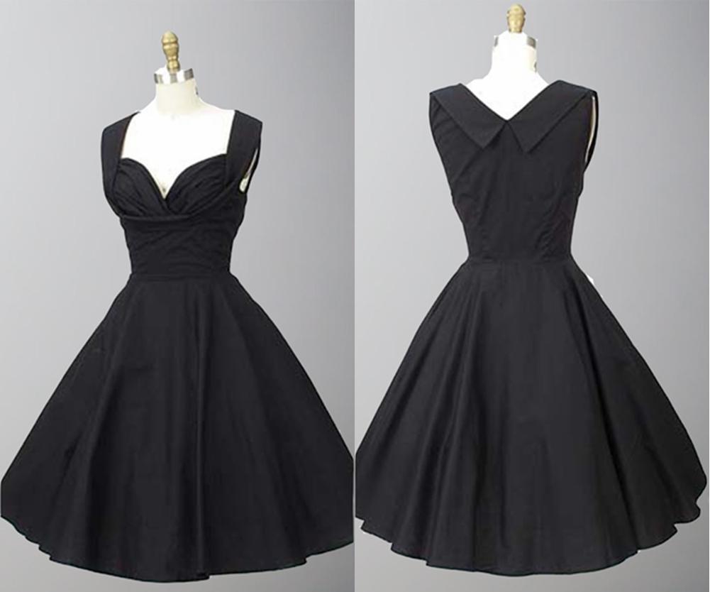 1950s Inspired Shelf Bust Little Black Dresses