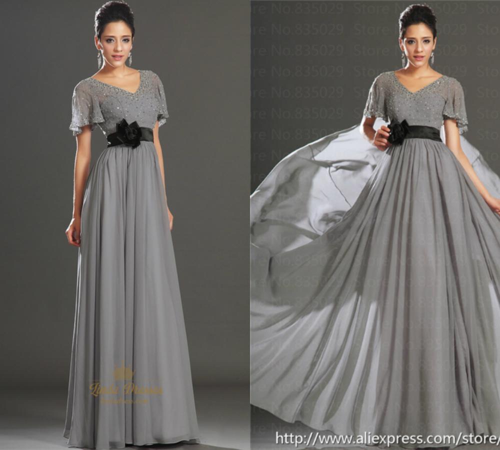 Dark Gray Bridesmaid Dresses With Black Sash Budget