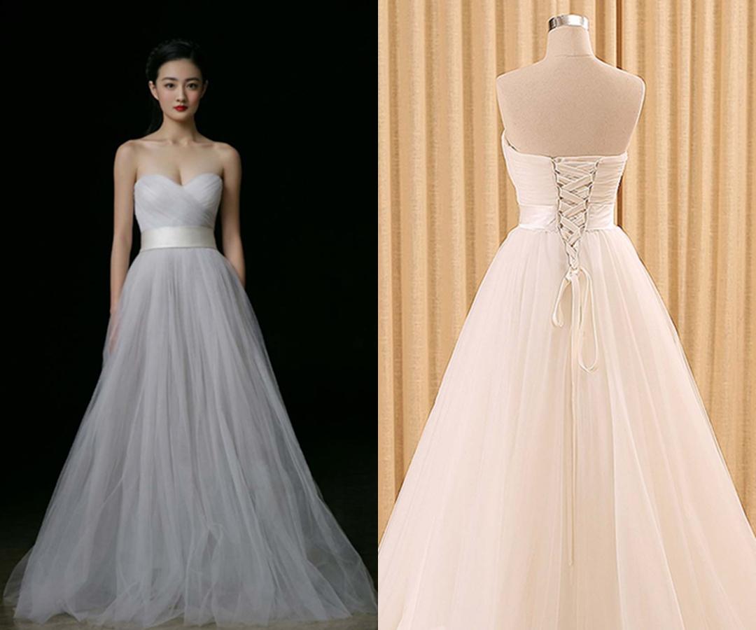 Elegant Sweetheart Long Gray Sweet 16 Dresses