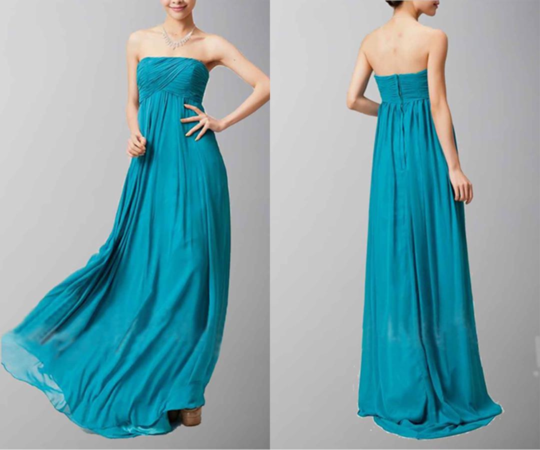 Empire Floor-Length Chiffon Bridesmaid Dress With Ruffle