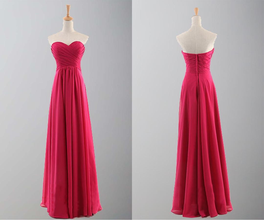 Flame Sweetheart Empire Waist Long Prom Dresses