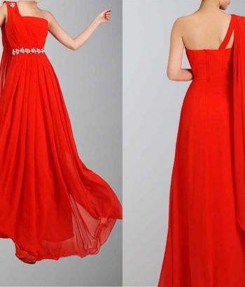 Greek Goddess Flame Beaded Long Dress For Prom