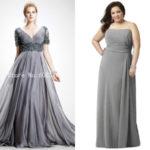 Long plus size gray bridesmaid dresses uk