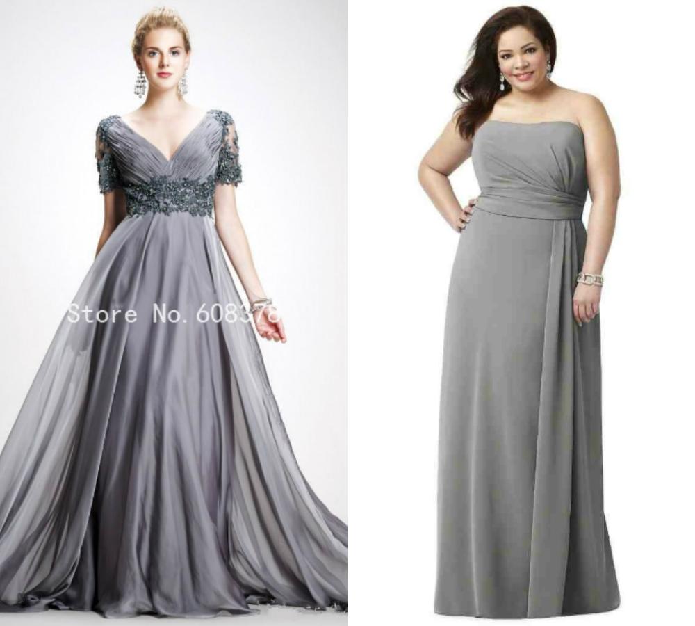 Long Plus Size Gray Bridesmaid Dresses Uk Budget