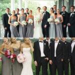 dark gray bridesmaid dresses black tuxedo