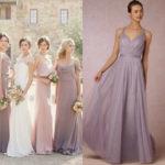 lilac gray bridesmaid dresses Long